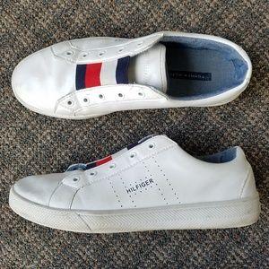 Vtg Tommy Hilfiger Flag Lace up shoes 9.5 Logo